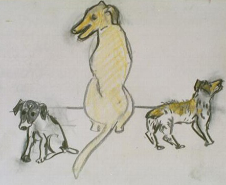 Sketch for Gallery Dogs